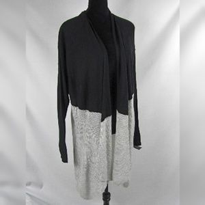 INC Intl Concepts Cardigan Black Gray Plus Size